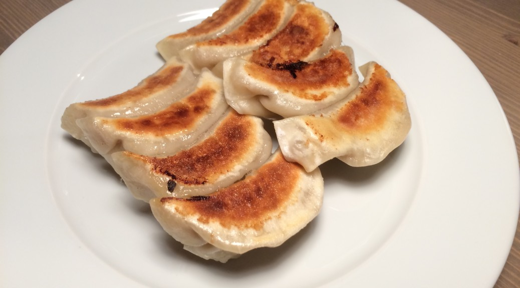 Pork and king prawn gyoza